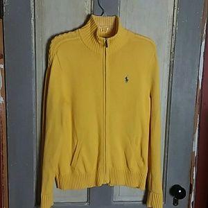 Yellow Ralph Lauren 100% Cotton Zip Up Sweater